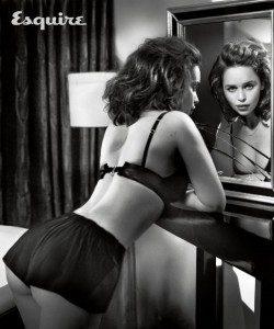 Emilia-Clarke-Wears-Lingerie-Esquire